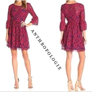 Anthropologie Tracy Reese Red Lace Dress
